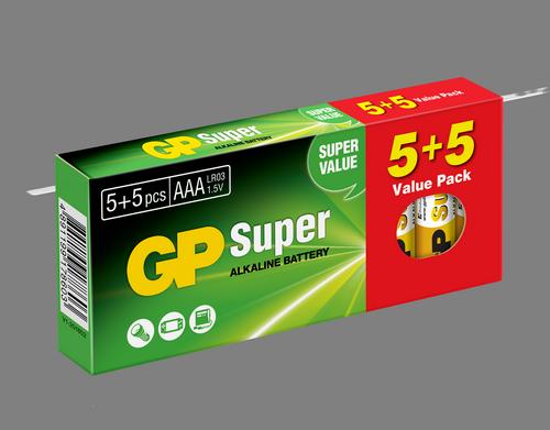 10 stk. GP AAA Super Alkaline / LR3/ R3