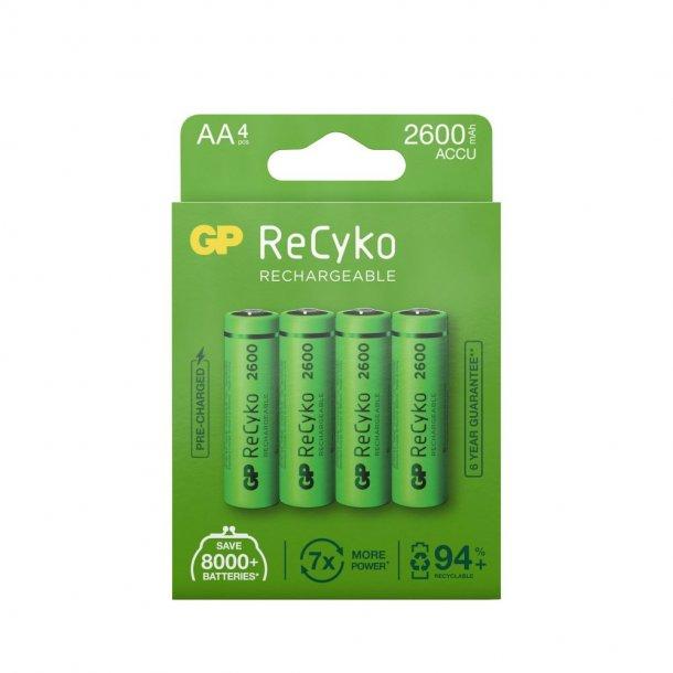 Genopladelige AA ReCyko batterier   2600mAh