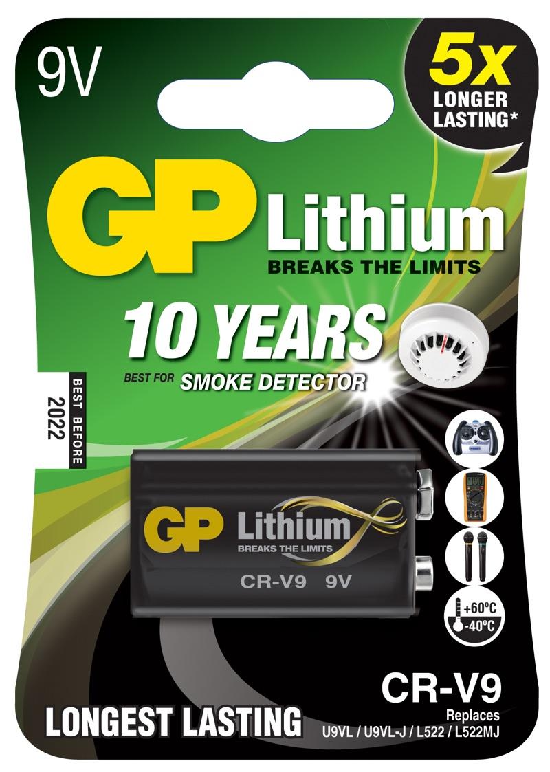 Billede af GP CR-V9 9 volt Lithium batteri