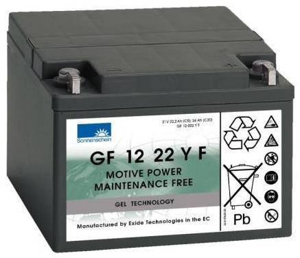 Billede af 12 volt 24 Ah. batteri til golfvogn