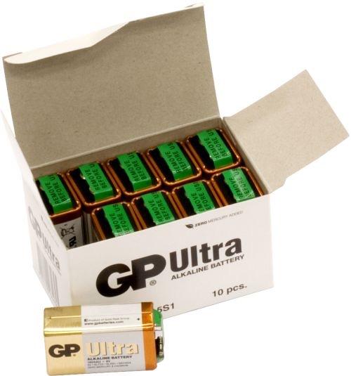 Billede af 10 stk. GP 9V Ultra Alkaline batterier
