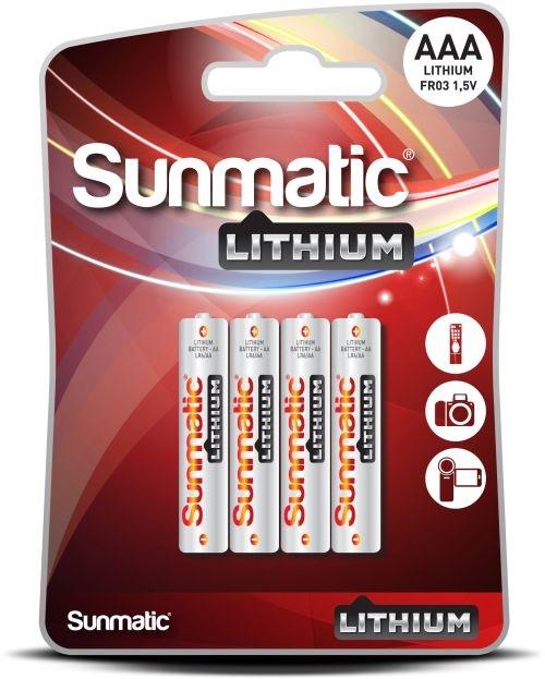Billede af 4 stk. Sunmatic Lithium AAA 1,5 volt