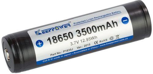 Image of   1 stk. Keeppower 18650 batteri Li-ion 3500mAh. PÅ LAGER IGEN UGE 34