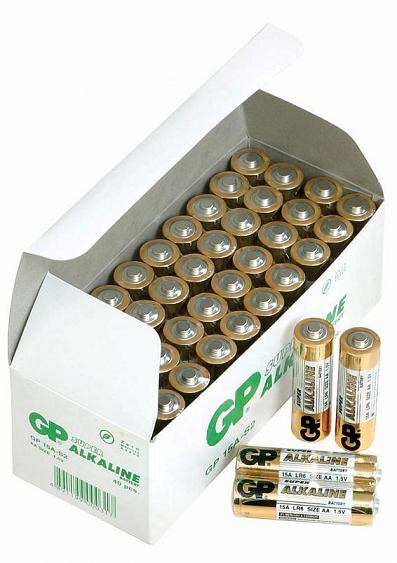 Image of   200 stk. GP AA Super Alkaline batterier / LR6 / R6