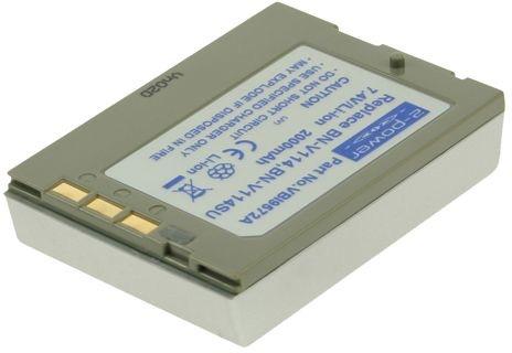 Image of 2-Power Kamerabatteri JVC BN-V114 (Kompatibelt)