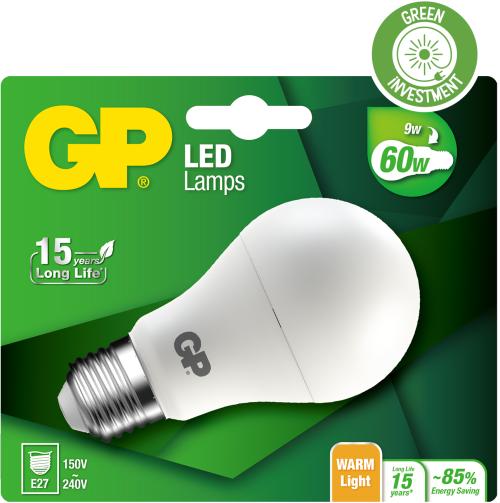 Classic LED pære, 9W (60W), E27