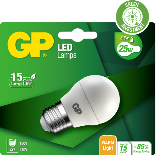 Mini Globe LED pære, 3,5W (25W), E14