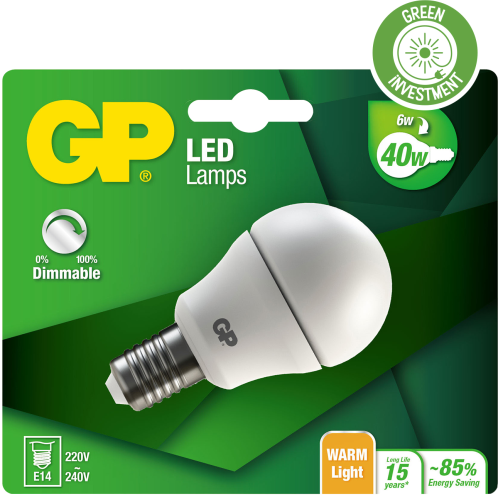 Billede af Mini Globe LED dæmpbar pære, 6W (40W), E14