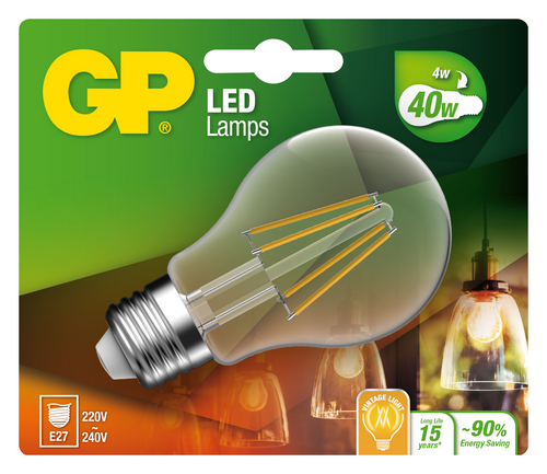 """Classic Filament LED, 4W (40W), E27 """"glødetråd"""""""