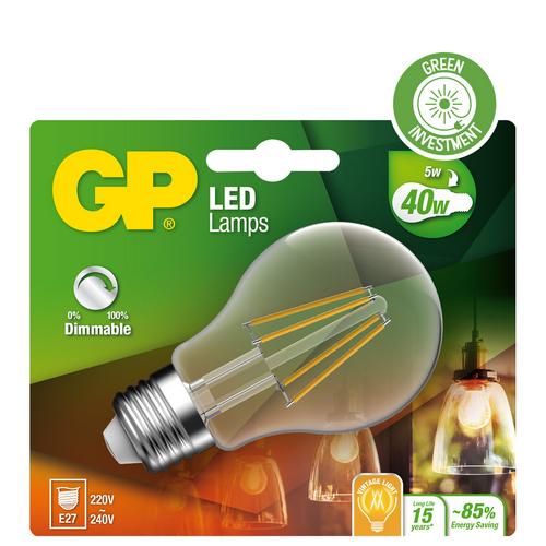 """Classic Filament LED dæmpbar, 5W (40W), E27 """"glødetråd"""""""