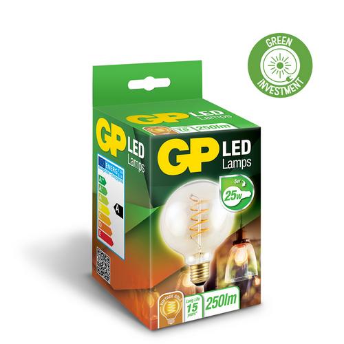 "Vintage Filament LED, 5W (25W), E27 ""glødetråd"""