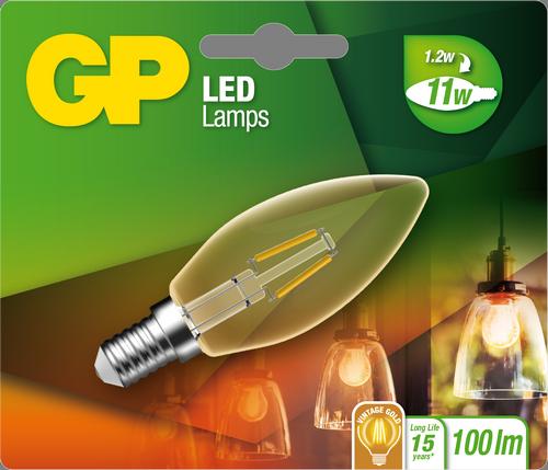 """Kertepære Filament LED, 1,2W (11W), E14 """"glødetråd"""""""