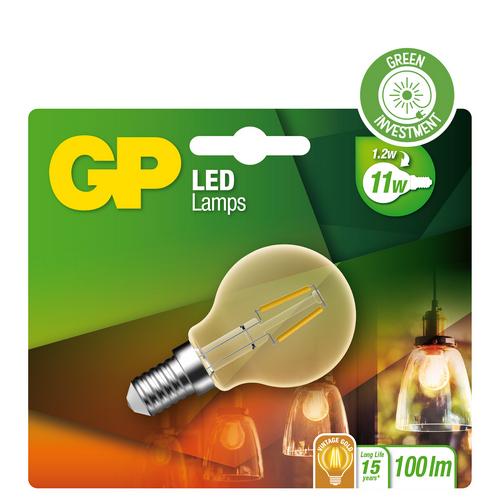 "Billede af Mini Globe LED, 1,2W (11W), E14 ""glødetråd"""
