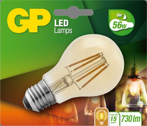 """Billede af Classic Filament LED Golden, 6W (56W), E27 """"glødetråd"""""""