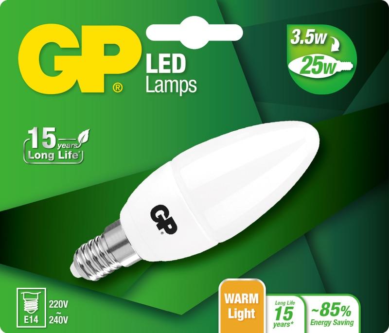Billede af Kertepære LED pære, 3,5W (25W), E14