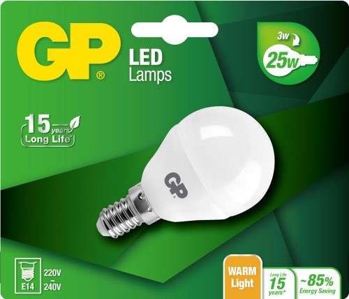 Billede af Mini Globe LED pære, 3W (25W), E14