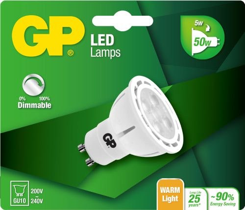 Billede af Reflector LED pære, 5W (50W), GU10, Dæmpbar