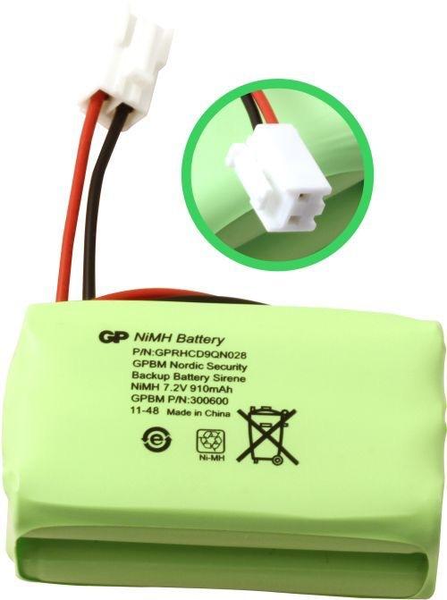 Billede af GP91AAALH6YMX batteri, Passer til alarmsystem Siren