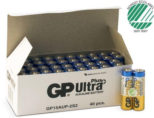 Billede af 40 stk. GP AA Ultra Plus batterier / LR6 / R6
