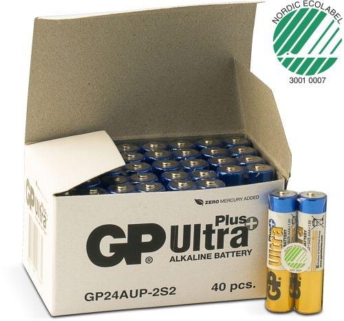 Billede af 40 stk. GP AAA Ultra Plus batterier / LR03 / LR3