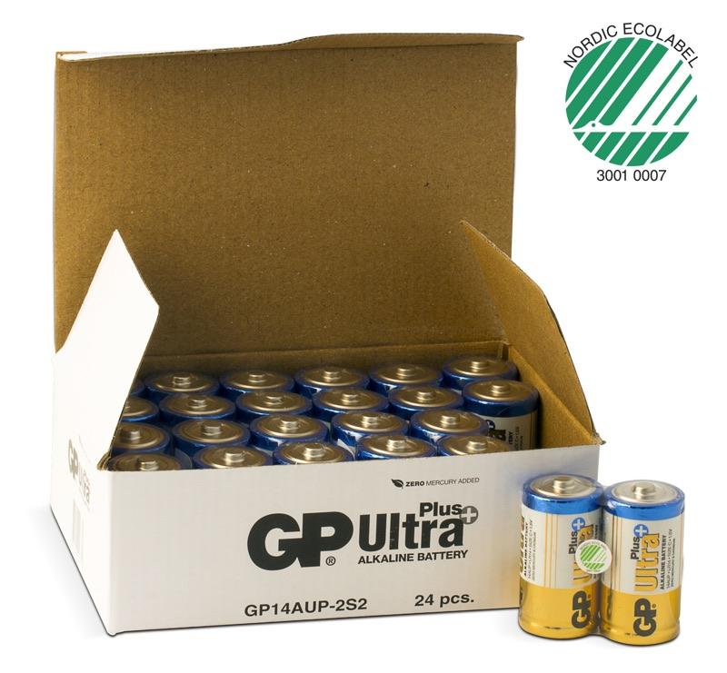 Image of   24 stk. GP C Ultra Plus batterier / LR14 PÅ LAGER IGEN UGE 15