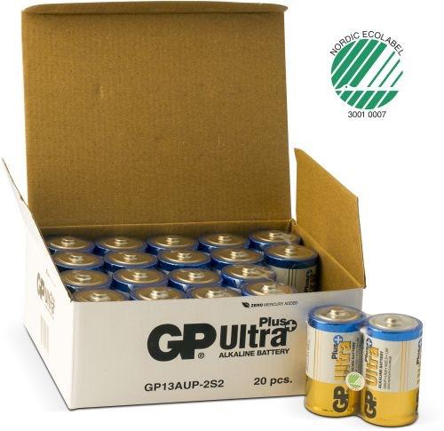 Billede af 20 stk. GP D Ultra Plus batterier / LR20