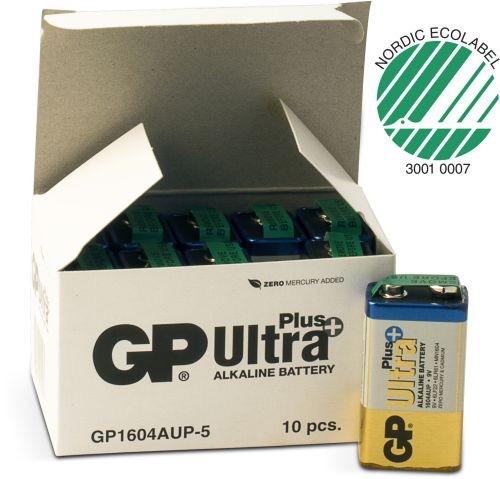 Billede af 10 stk.GP 9 V Ultra Plus batteri