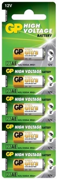 Billede af 5 stk. GP 23A 12 volt Alkaline batteri