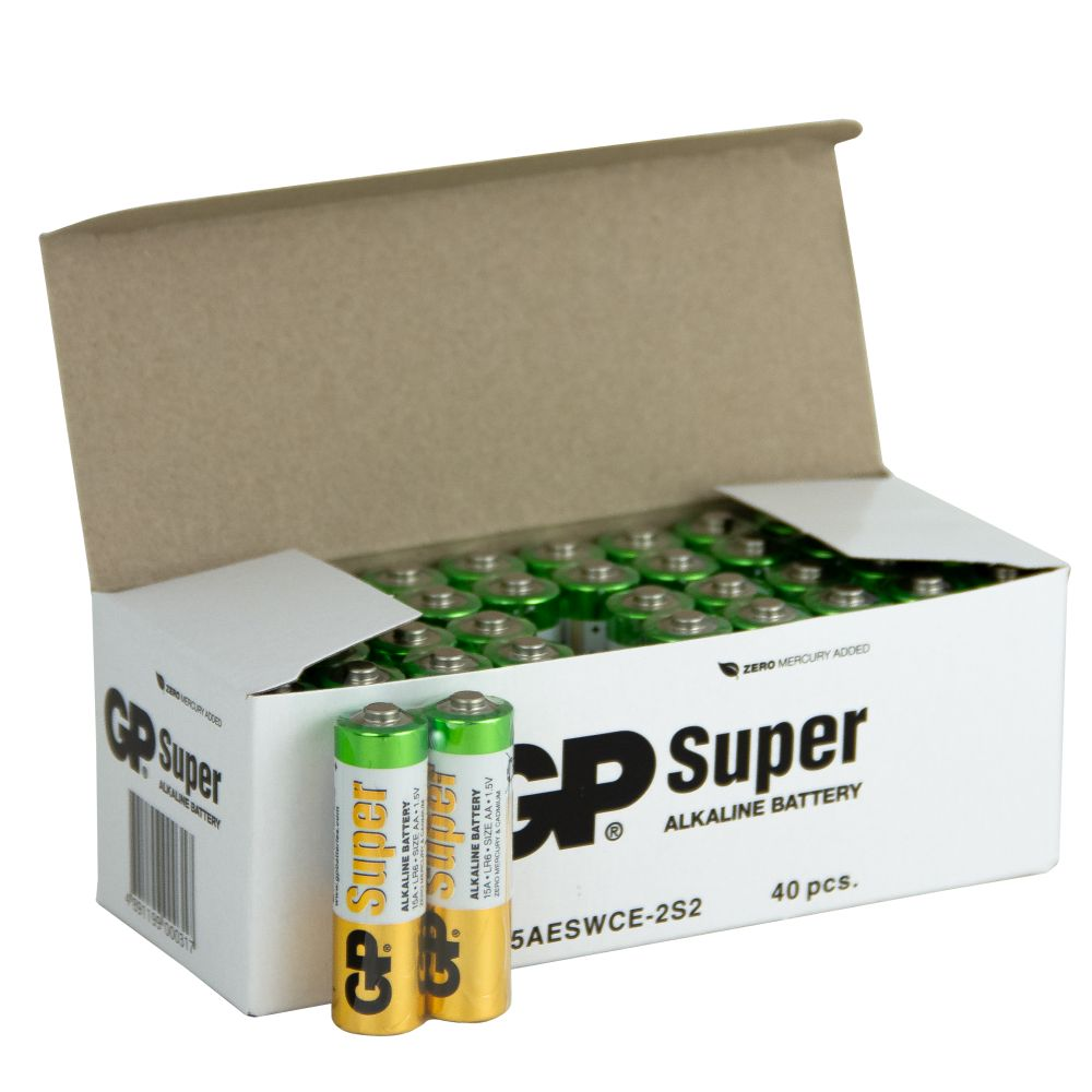 Image of   40 stk. GP AA Super Alkaline batterier
