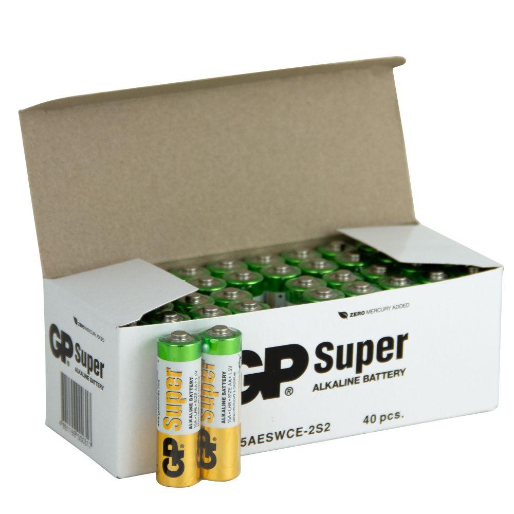 Image of 40 stk. GP AA Super Alkaline batterier