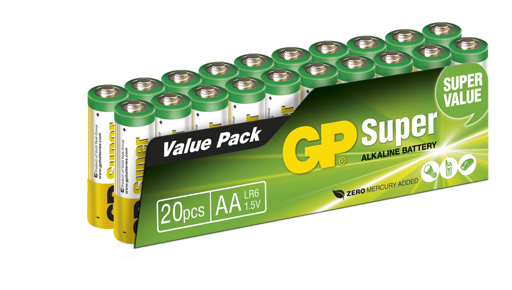 Image of   20 stk. GP AA Super Alkaline / LR6 / R6
