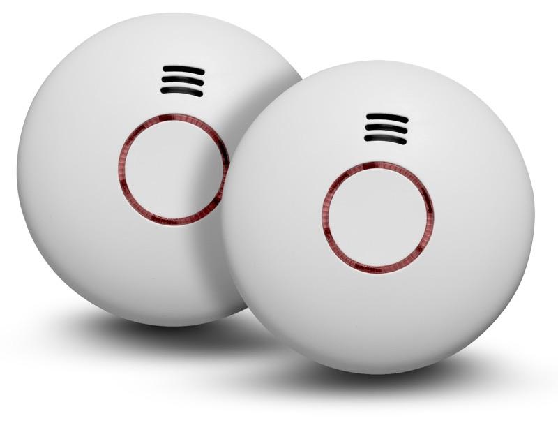 Image of   2 stk. Housegard Origo trådløse røgalarmer, SA422WS