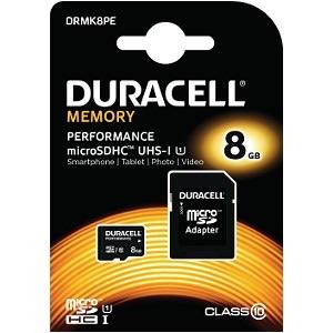 Image of   Duracell MicroSD og SD hukommelseskort 8GB