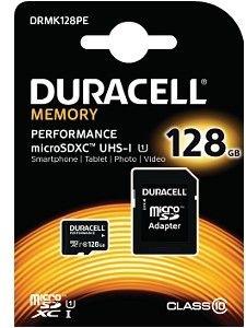 Image of   Duracell MicroSD og SD hukommelseskort 128GB