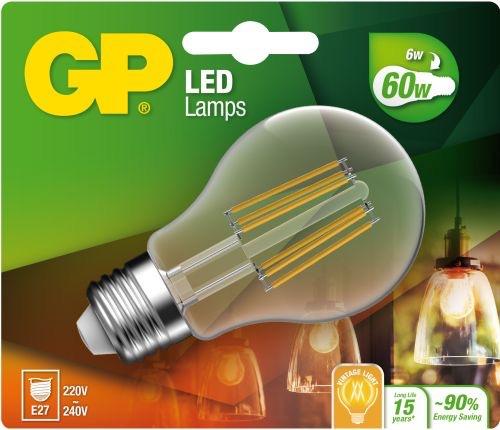 """Billede af Classic LED, 6W (60W), E27 """"glødetråd"""""""