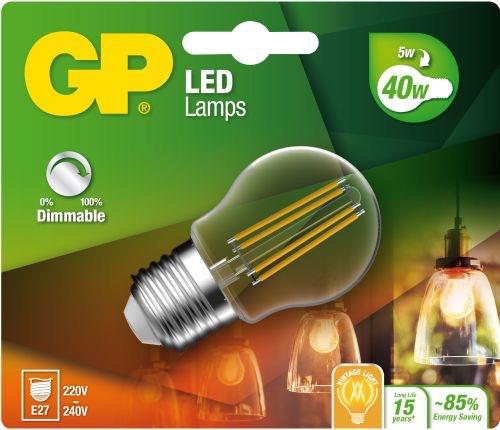 "Billede af Mini Globe LED, 5W (40W), E27 ""glødetråd"", Dæmpbar"