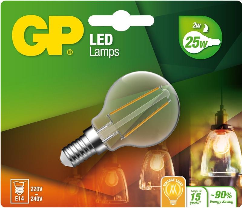 "Billede af Mini Globe LED, 2W (25W), E14 ""glødetråd"""