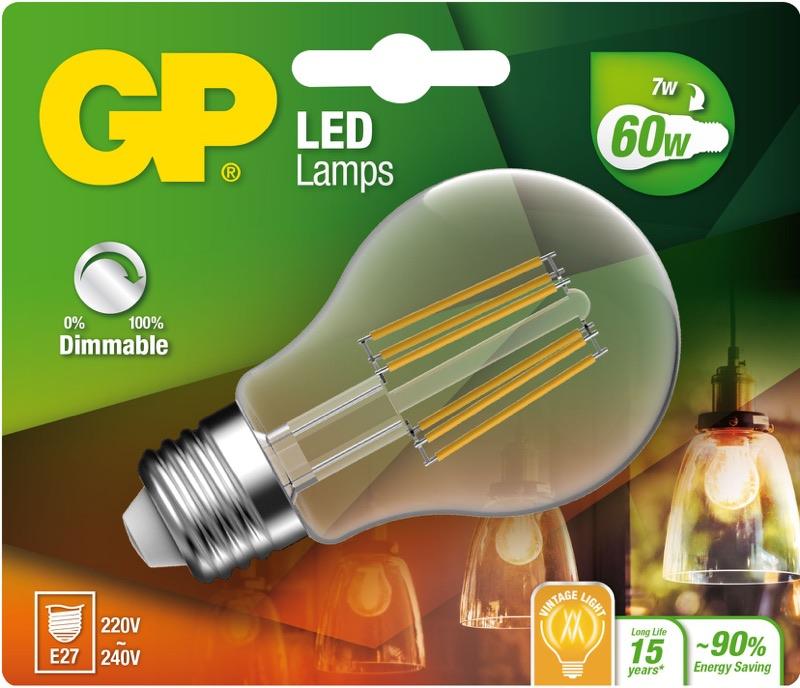 """Billede af Classic LED, 7W (60W), E27 """"glødetråd"""", Dæmpbar"""