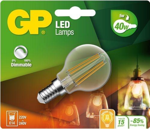 "Billede af Mini Globe LED, 5W (40W), E14 ""glødetråd"", Dæmpbar"