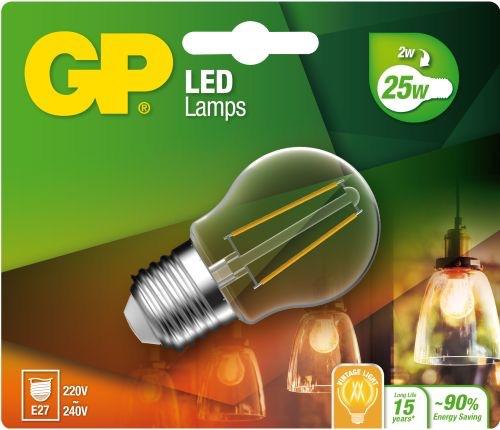 "Billede af Mini Globe LED, 2W (25W), E27 ""glødetråd"""