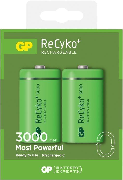 Billede af Genopladelige C Recyko batterier / LR14 3000mAh