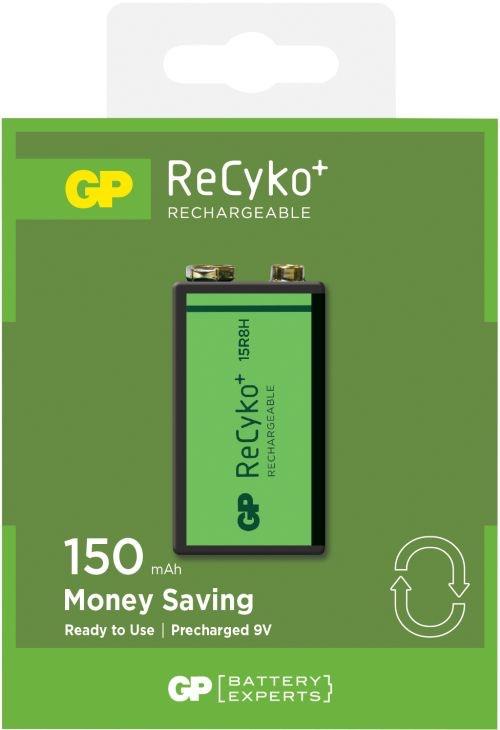 Billede af Genopladelige 9V / 8,4V Recyko batterier / 150mAh