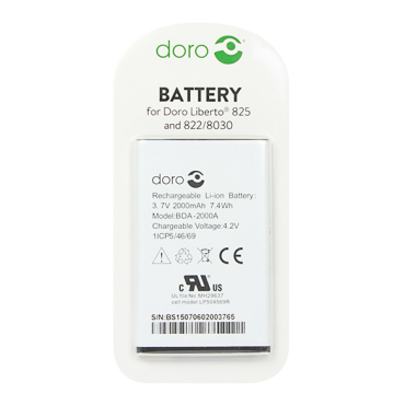 Batteri BDA-2000A til Doro Liberto 825 (Originalt)