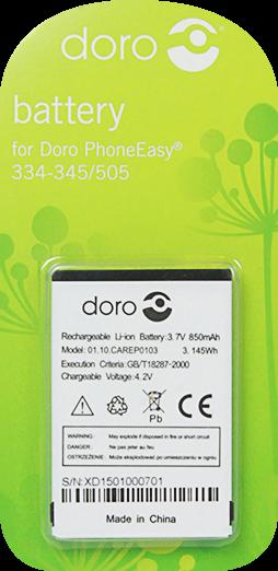 Doro batteri til bl.a. HandlePlus 334 / Phoneeasy 505 (Original)