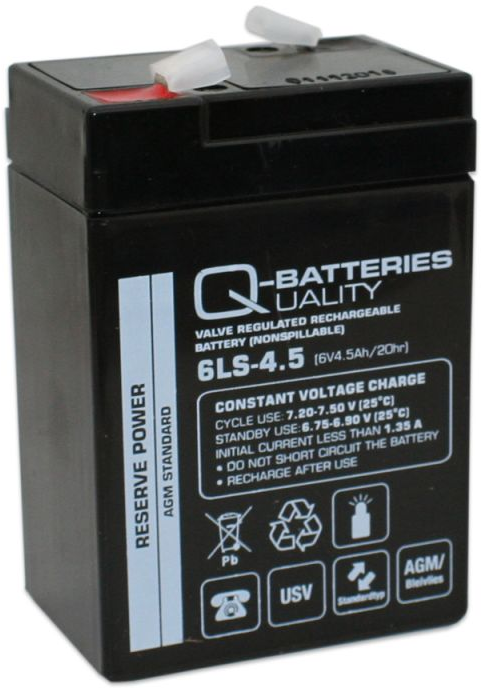 Image of   6 volt 4,5 Ah. bly batteri