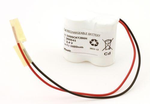 Image of   Batteripakke til nødbelysning 2,4volt 1600mAh. Cd