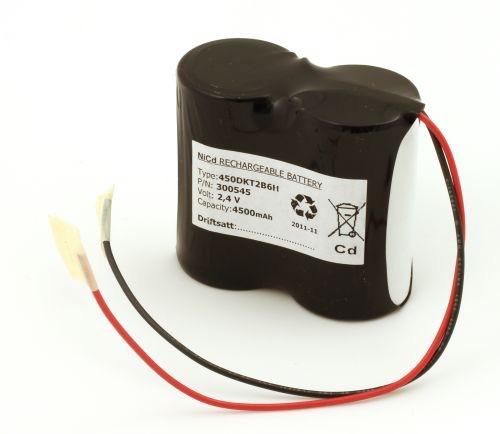 Image of   Batteripakke til nødbelysning 2,4volt 4500mAh. Cd