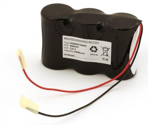 Billede af Batteripakke til nødbelysning 3,6volt 4500mAh. Cd