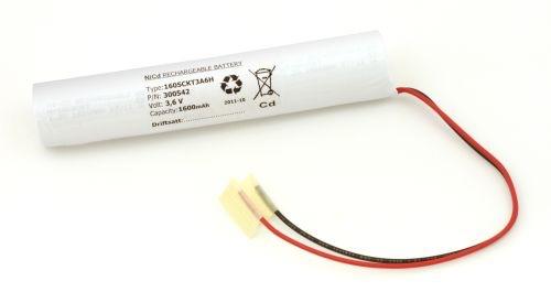 Billede af Batteripakke til nødbelysning 3,6volt 1600mAh. Cd