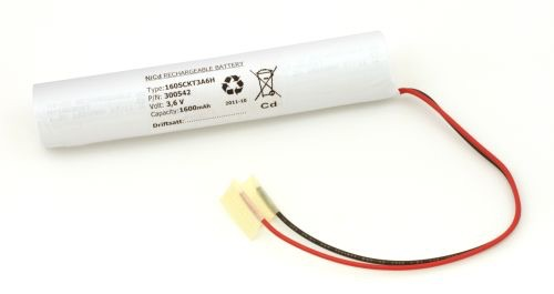 Image of Batteripakke til nødbelysning 3,6volt 1600mAh. Cd